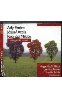 Ady, József Attila, Radnóti válogatott versei hangoskönyv (audio CD)